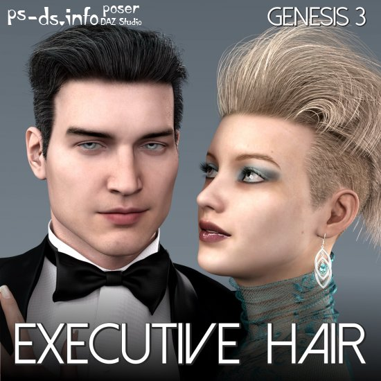 Executive Hair for Genesis 3 Male and Female