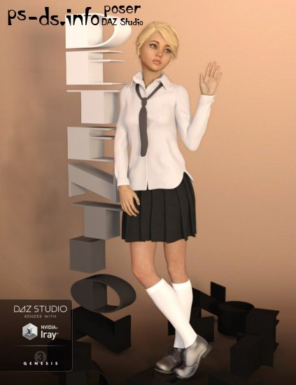Detention Outfit for Genesis 3 Female(s)