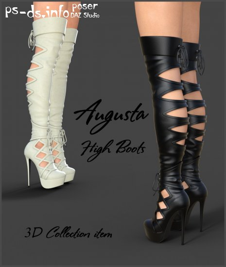 Augusta High Boots for Genesis 3 Females