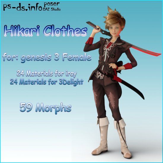 Hikari Anime Clothing for G3F