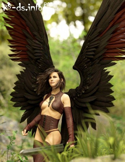 Morning Star Wings for Genesis 3 and 8 Female(s)
