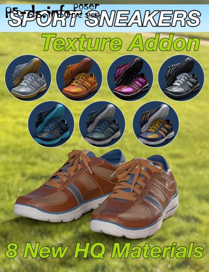 Slide3D Sport Sneakers for Genesis 3 Female(s) Texture Addon