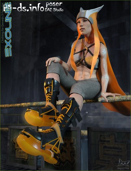 Exoline Boots and Accessories for Genesis 3 Female(s)