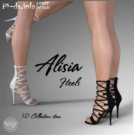 Alisia Heels For Genesis 8 Females » Poser