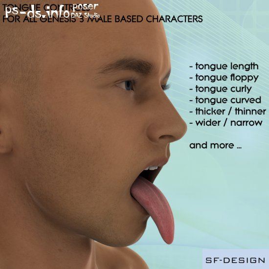 Tongue Controls for Genesis 3 Male Characters