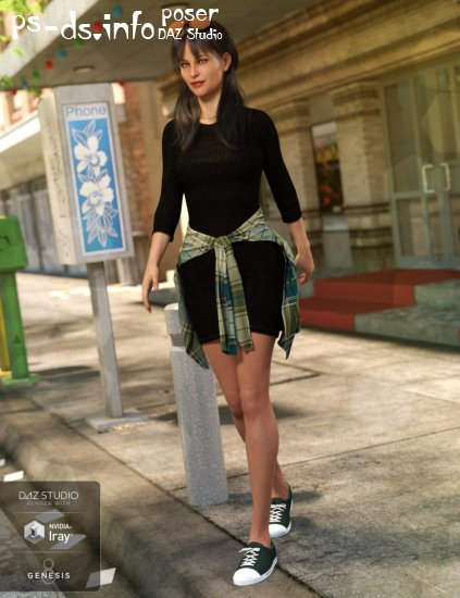 T-Shirt Dress Outfit for Genesis 8 Female(s)