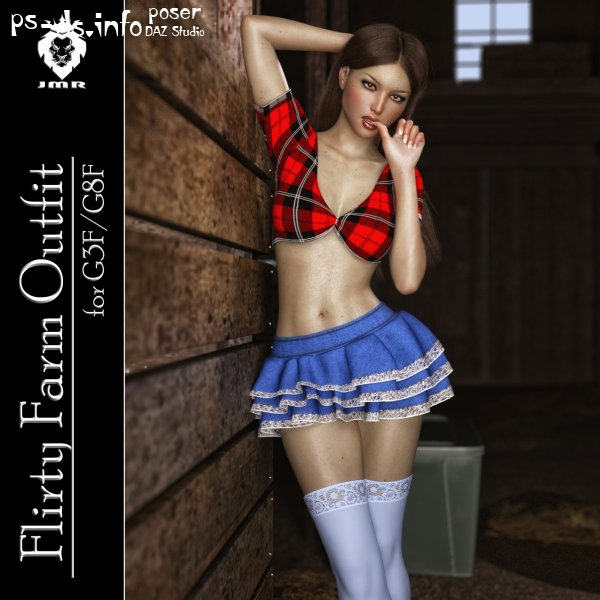 JMR Flirty Farm Outfit for G3F/G8F