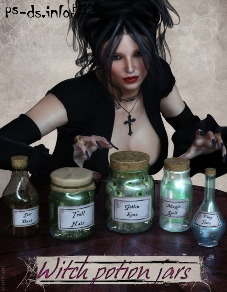 Witch Potion Jars