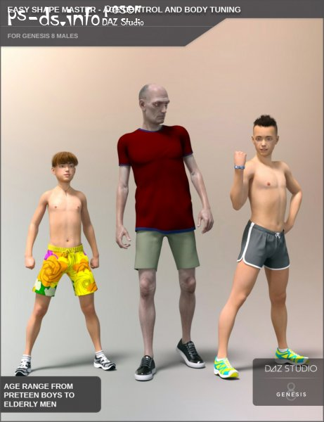 Easy Shape Master - Age Control and Body Tuning for Genesis 8 Male