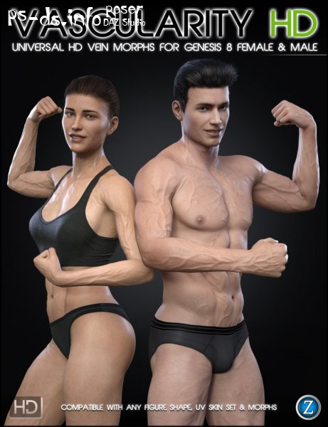 Vascularity HD for Genesis 8 Female and Male