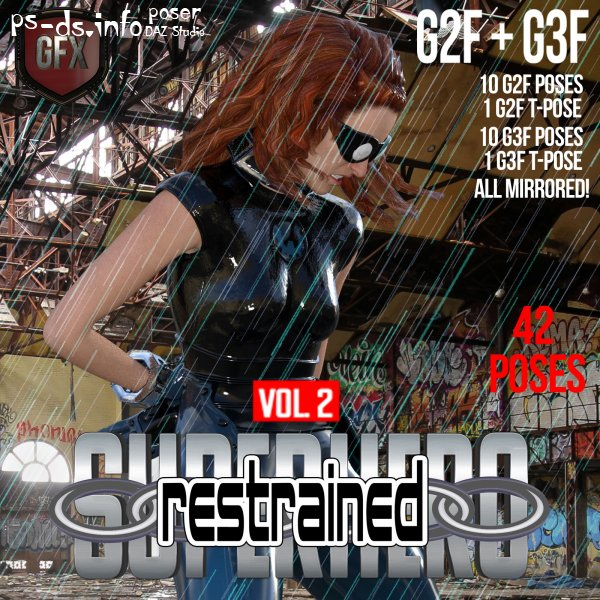 SuperHero Restrained for G2F and G3F Volume 2