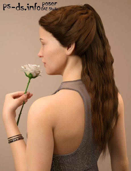 Brielle Hair for Genesis 8 Female(s)