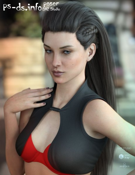 Xelene Hair for Genesis 3 & 8 Female(s)
