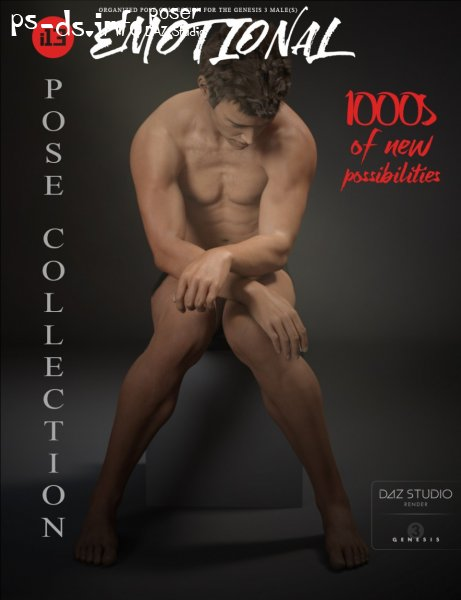 i13 Emotional Pose Collection for the Genesis 3 Male(s)