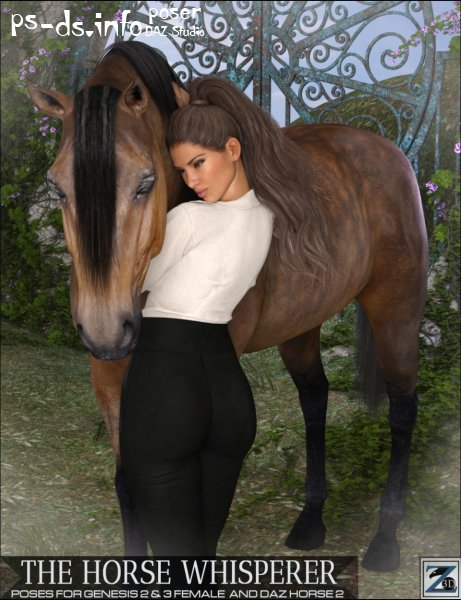 Z The Horse Whisperer - Poses for Genesis 2 & 3 Female and Daz Horse 2