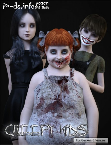 VYK Creepy Kids for Genesis 8 Female