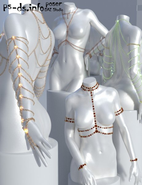 Body Chains For Genesis 3 and Genesis 8 Female(s)