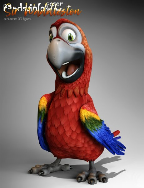 Cartoon Parrot for Daz Studio