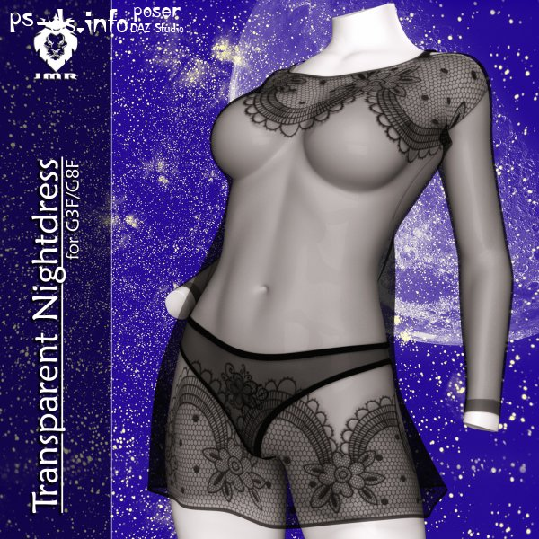JMR Transparent Nightdress for G3F/G8F