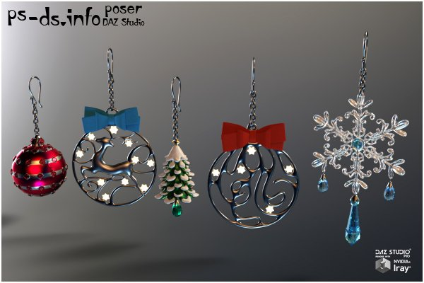 Christmas Jewels for Poser and DS