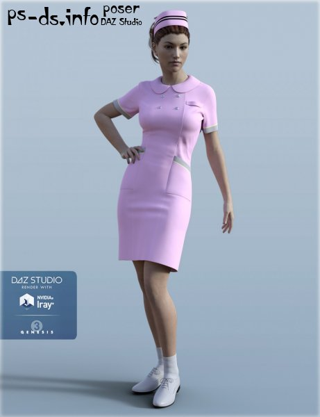 H&C Nurse Uniform for Genesis 3 Female(s)