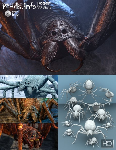 Giant Monster Spider HD Bundle