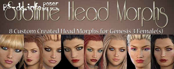 Sublime Head Morphs Genesis 3 Female(s)