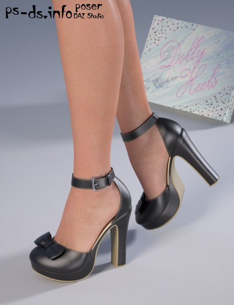 Dolly Heels for Genesis 3 and 8 Female(s)
