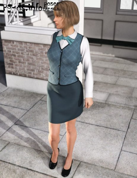 dForce Office Outfit for Genesis 8 Female(s)