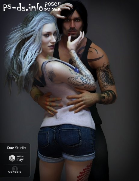 LIE Tattoo Presets 2 Bundle for Genesis 3 and 8