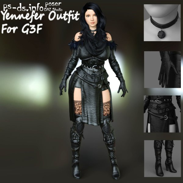 Yennefer Outfit For G3F