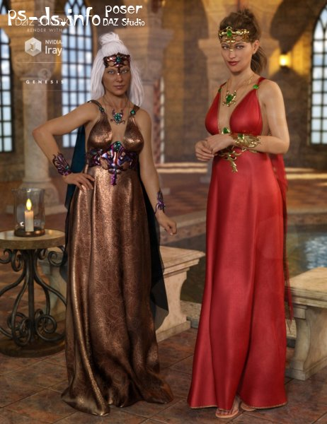 dForce Olympus Goddess Outfit Textures
