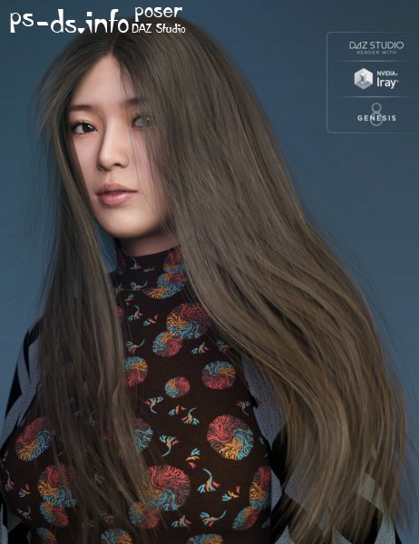 Wild Wind Hair for Genesis 8 Female(s)