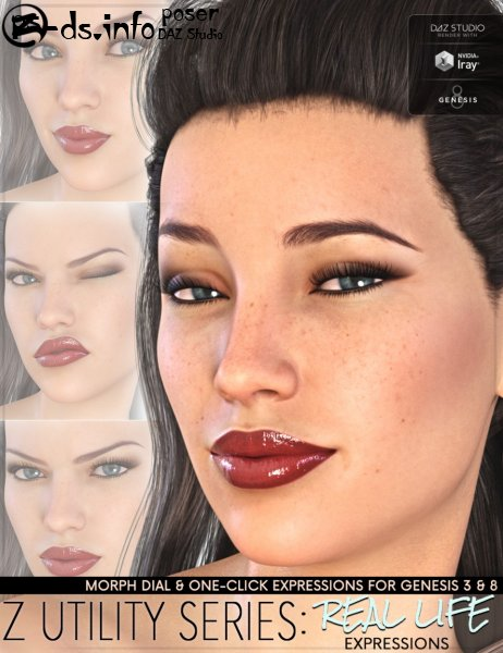 Z Utility Series: Real Life Expressions for Genesis 3 and 8 Female