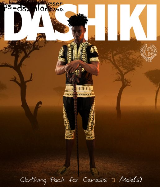 DASHIKI Pack for Genesis 3 Males