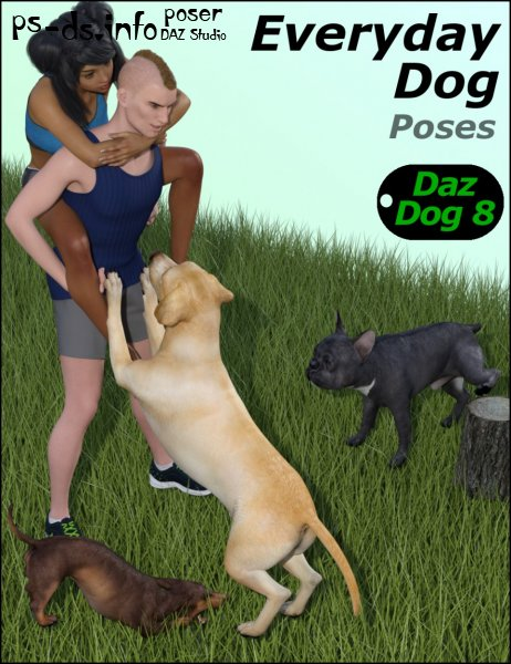 Everyday Dog Poses for Daz Dog 8