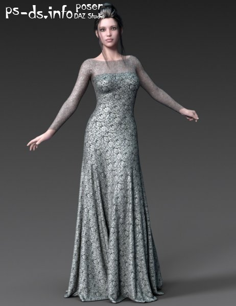dForce Gossamer Grace Dress for Genesis 8 Female(s)