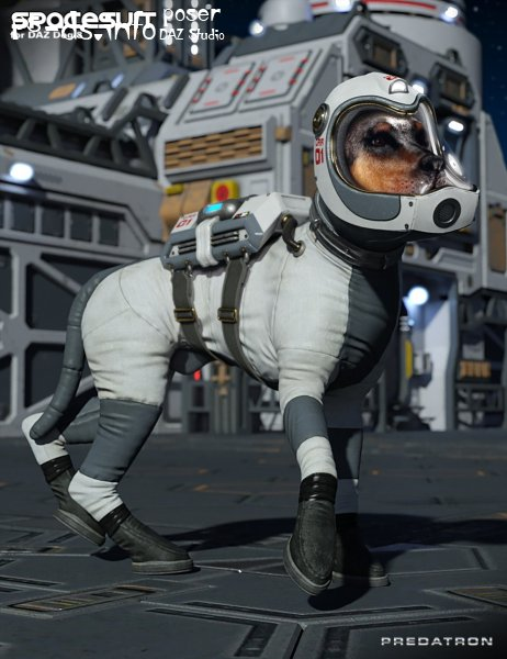 Spacesuit for Daz Dog 8
