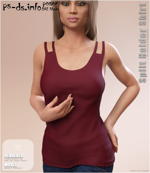 Split Holder Shirt for Genesis 8 Female(s)