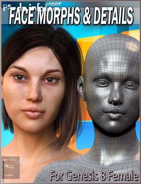EJ Face Morphs And Details for Genesis 8 Female(s)
