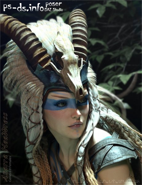 Axarra Headdress for Genesis 8 Female(s)