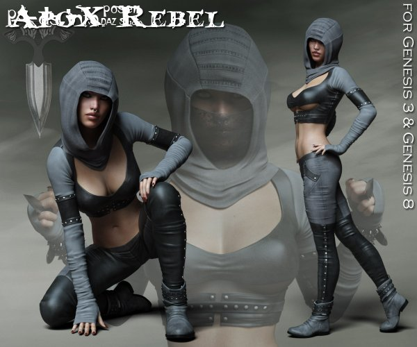 ApoX - Rebel for the Genesis 3 and Genesis 8 Females