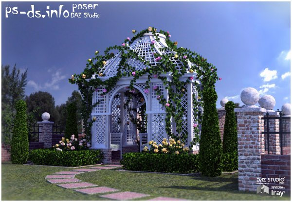 Rose Arbor for Poser and DS
