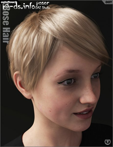 Rose Hair for Genesis 3 and 8 Female(s)