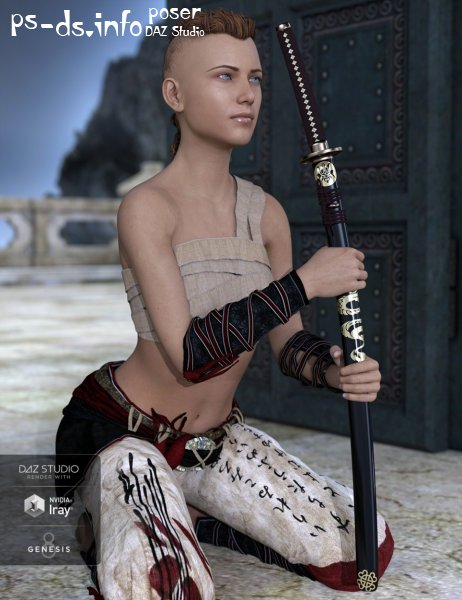 Katana and Poses for Genesis 8 Female(s)