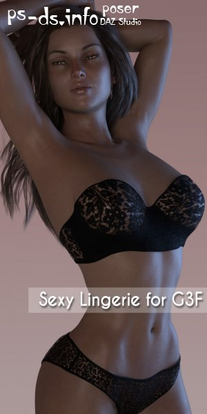 Sexy Lingerie For Genesis 3 Female(s)