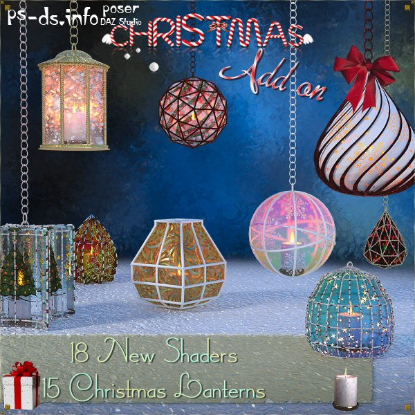 Caged Lanterns - Christmas Add on for DAZ