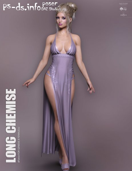 dForce Long Chemise for Genesis 8 Females