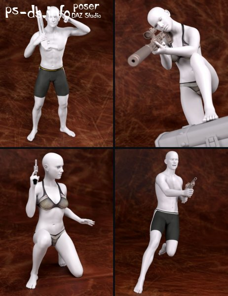 Trigger Happy Poses for Genesis 2 and Genesis 3 Male(s) and Female(s)