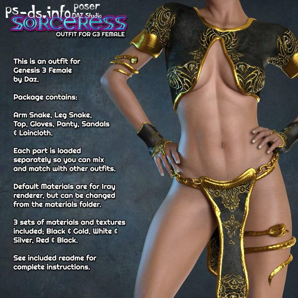 Exnem Sorceress Outfit for G3 Female